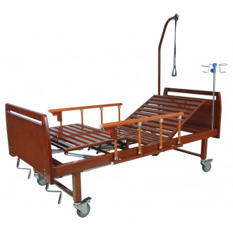 Кровать функциональная механическая Belberg 8-17 темное дерево с туал.устр. бук в