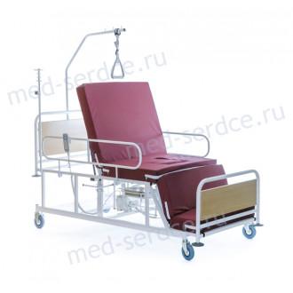 Электрическая медицинская кровать с кардио-креслом Belberg 4-02 с санитарным оснащением в