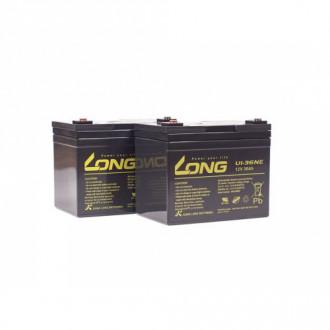Комплект свинцово-кислотных аккумуляторных батарей Ortonica 2XLONG 36P (2 шт.) в