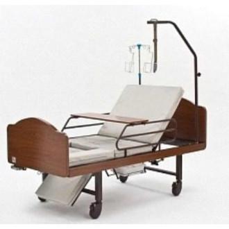 Кровать функциональная медицинская 3-х секционная механическая с санитарным оснащением DHC FF-3 в