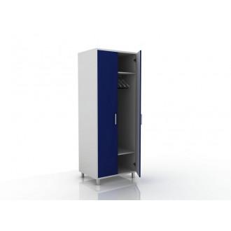 Шкаф для одежды (в комплекте перекладина хром, полки) 105-001-1 в