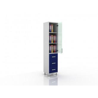 Шкаф для документов (верх стекло, низ ящики выдвижные) 105-001-13 в