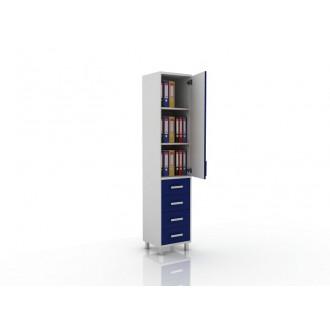 Шкаф для документов (глухая дверца сверху, снизу три ящика) 105-001-15 в