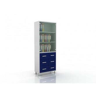 Шкаф для документов (верх стекло, низ ящики) 105-003-11 в