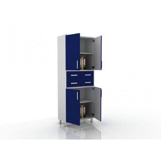 Шкаф для документов (глухие дверцы, 4 ящика в центре) 105-003-18 в