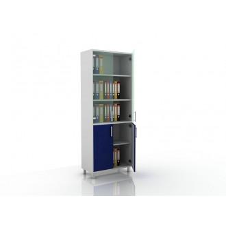 Шкаф для документов (стекло и глухие дверцы) 105-003-2 в