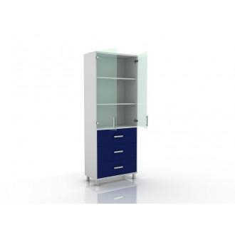 Шкаф для документов (верх стекло, низ ящики) 105-003-20 в