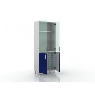 Шкаф для медикаментов (верх стекло, низ- глухие двери) 105-004-16 в