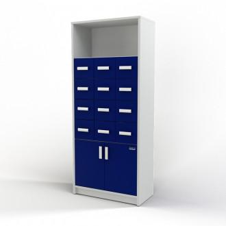 Шкаф картотечный (полки/глухие дверцы) 105-004-3 в