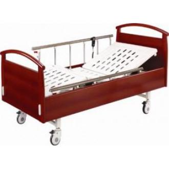 Кровать  электрическая  с деревянными спинками в