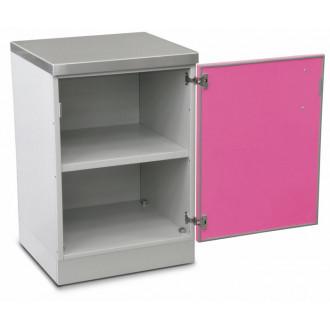 Шкаф медицинский нижний для хранения инструментов и перевязочного материала (с полками, одностворчатый) в