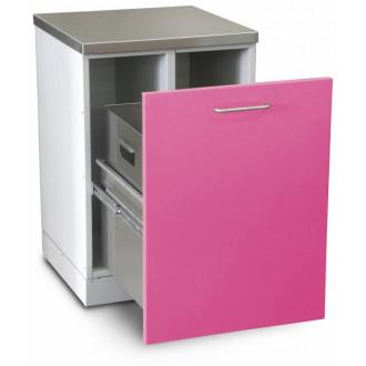 Шкаф медицинский нижний для медицинских отходов (с выдвижной секцией) в