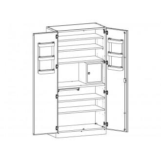 Шкаф медицинский МШ-2-02 для хранения медикаментов (с сейфом) в