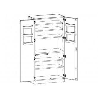 Шкаф медицинский МШ-2-01 для медикаментов (без сейфа) в
