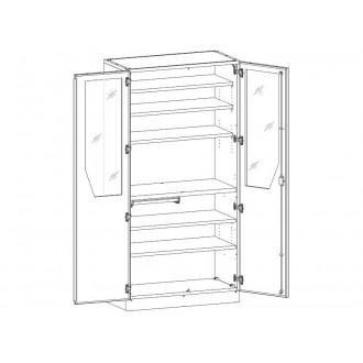 Шкаф медицинский МШ-2-05 для инструментария и медикаментов в