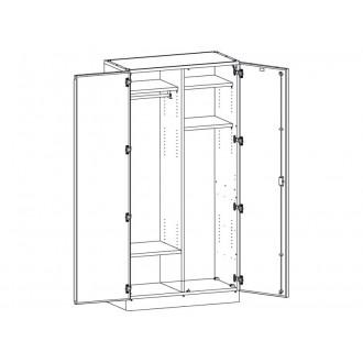 Шкаф медицинский МШ-2-06 для хранения инструментария в