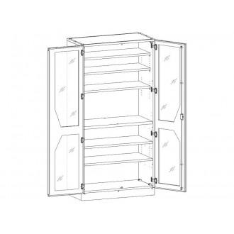 Шкаф медицинский МШ-2-04 для медикаментов в