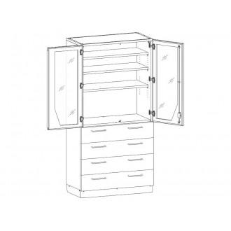 Шкаф медицинский МШ-2-07 для медикаментов в