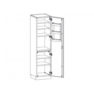 Шкаф медицинский МШ-1-01 без сейфа для медикаментов в
