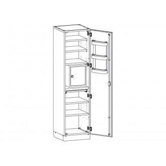 Шкаф медицинский МШ-1-02 с сейфом для медикаментов в