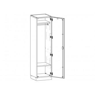 Шкаф медицинский для одежды МШ-1-03 в