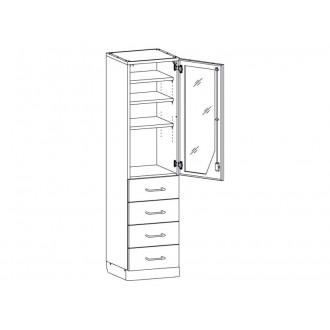 Шкаф медицинский МШ-1-07 для медикаментов в