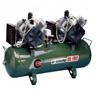 Компрессор стоматологический для 5 установок, без кожуха, с 2-мя 2-х цилиндрованными двигателями в