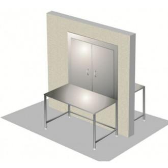 Стол передаточный М-СЛМ-200/60П с передаточным окном в