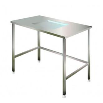 Стол упаковочный МС со смотровым окном и подстветкой в