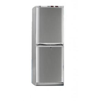 Холодильник фармацевтический двухкамерный ХФД-280 (140/140 л) с дверями из металлопласта серебряного цвета в