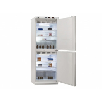 Холодильник фармацевтический двухкамерный ХФД-280 (140/140 л) с металлическими дверями в