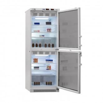 Холодильник фармацевтический двухкамерный ХФД-280(ТС) (140/140 л) с тонированными стеклянными дверями в