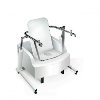 Медицинская гинекологическая сидячая ванна с подъемником Модель 2.9-4 в