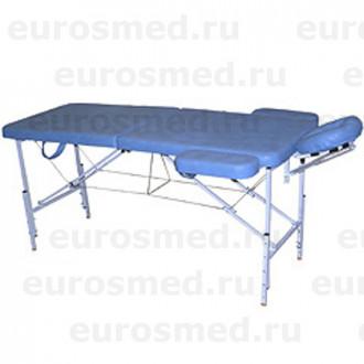 Массажный стол MedMebel №2 с валиком и подлокотниками в