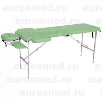Массажный стол MedMebel №52 с подголовником и подлокотниками в