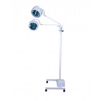Светильник гинекологический передвижной двухблочный двухрефлекторный П-5 в