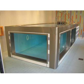 Модульный бассейн из нержавеющей стали для реабилитации в воде в
