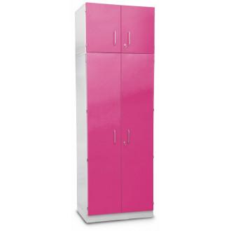 Шкаф медицинский высокий для хранения медикаментов (с полками и антресольным шкафом) в