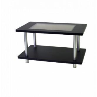 Стол для приемной со стеклянной столешницей в