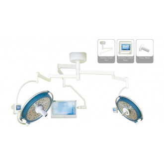 Светодиодный хирургический светильник двух купольный YDZ700/500 plus со встроенной камерой и монитором в