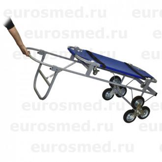 Тележка ветеринарная с носилками ПВХ, со строенными колесами СВУ-20.12 в