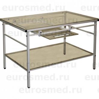 Стол ветеринарный СВУ-23 для рентгена с выдвижной полкой в