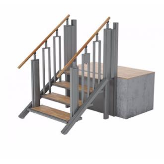 Лестница-трансформер FlexStep V2 / 4 ступеньки / высота подъёма до 925 мм в
