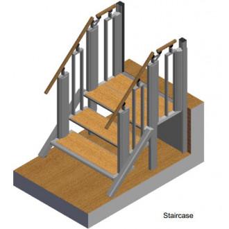 Лестница-трансформер FlexStep V2 / 3+1 ступеньки / высота подъёма до 740 мм в